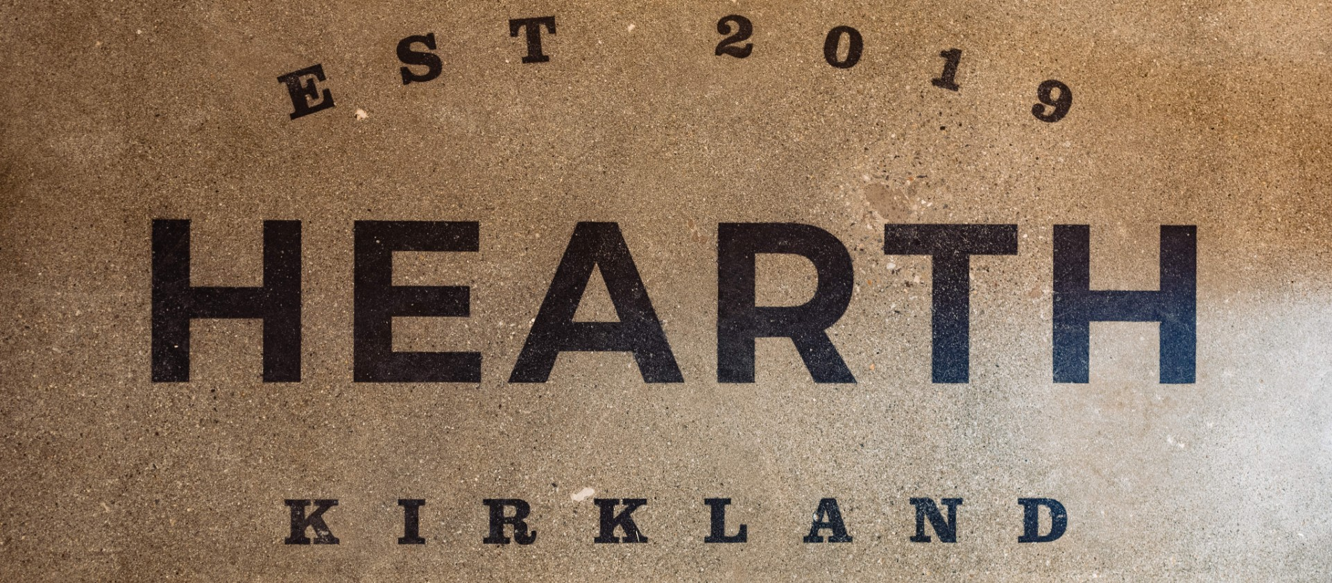 Hearth Floor Sign